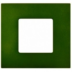 Рамка 1 пост Simon SIMON 27 PLAY, зеленый артик, 2700617-084