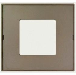 Рамка 1 пост Simon SIMON 27 PLAY, серый полупрозрачный, 2700617-112
