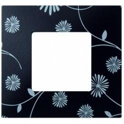 Рамка 1 пост Simon SIMON 27 PLAY, черный/белый, 2700617-802