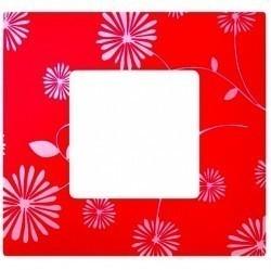Рамка 1 пост Simon SIMON 27 PLAY, красный/белый, 2700617-803