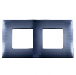 Рамка 2 поста Simon SIMON 27 PLAY, нержавеющая сталь, 2700627-042