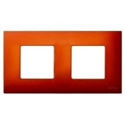 Рамка 2 поста Simon SIMON 27 PLAY, оранжевый артик, 2700627-082