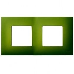 Рамка 2 поста Simon SIMON 27 PLAY, зеленый артик, 2700627-084