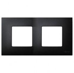 Рамка 2 поста Simon SIMON 27 PLAY, черный артик, 2700627-086