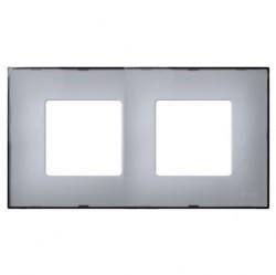Рамка 2 поста Simon SIMON 27 PLAY, серый полупрозрачный, 2700627-112