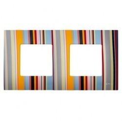 Рамка 2 поста Simon SIMON 27 PLAY, многоцветный, 2700627-801