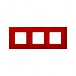 Рамка 3 поста Simon SIMON 27 PLAY, красный, 2700637-037