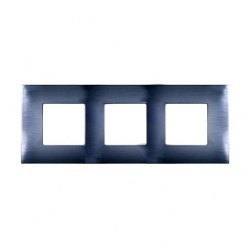 Рамка 3 поста Simon SIMON 27 PLAY, нержавеющая сталь, 2700637-042