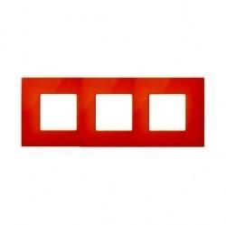 Рамка 3 поста Simon SIMON 27 PLAY, оранжевый, 2700637-072