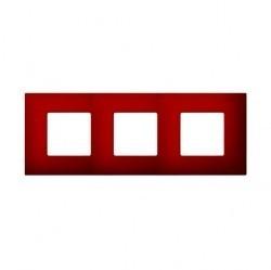 Рамка 3 поста Simon SIMON 27 PLAY, красный артик, 2700637-080