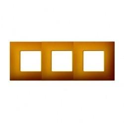 Рамка 3 поста Simon SIMON 27 PLAY, желтый артик, 2700637-081
