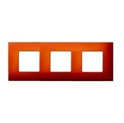 Рамка 3 поста Simon SIMON 27 PLAY, оранжевый артик, 2700637-082