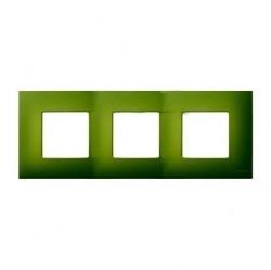 Рамка 3 поста Simon SIMON 27 PLAY, зеленый артик, 2700637-084