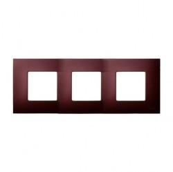 Рамка 3 поста Simon SIMON 27 PLAY, баклажановый артик, 2700637-085