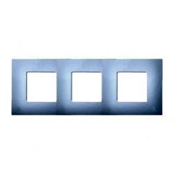 Рамка 3 поста Simon SIMON 27 PLAY, прозрачный, 2700637-108