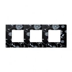 Рамка 3 поста Simon SIMON 27 PLAY, черный/белый, 2700637-802