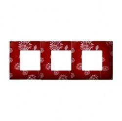Рамка 3 поста Simon SIMON 27 PLAY, красный/белый, 2700637-803
