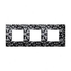 Рамка 3 поста Simon SIMON 27 PLAY, черный, 2700637-804
