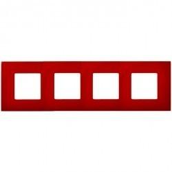 Рамка 4 поста Simon SIMON 27 PLAY, красный, 2700647-037