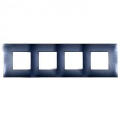 Рамка 4 поста Simon SIMON 27 PLAY, нержавеющая сталь, 2700647-042
