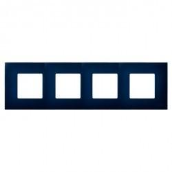 Рамка 4 поста Simon SIMON 27 PLAY, синий, 2700647-064