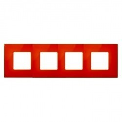 Рамка 4 поста Simon SIMON 27 PLAY, оранжевый, 2700647-072