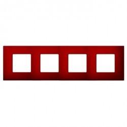 Рамка 4 поста Simon SIMON 27 PLAY, красный артик, 2700647-080