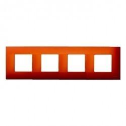 Рамка 4 поста Simon SIMON 27 PLAY, оранжевый артик, 2700647-082