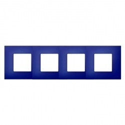 Рамка 4 поста Simon SIMON 27 PLAY, синий артик, 2700647-083
