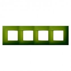 Рамка 4 поста Simon SIMON 27 PLAY, зеленый артик, 2700647-084