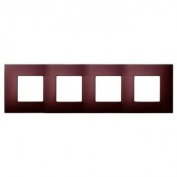 Рамка 4 поста Simon SIMON 27 PLAY, баклажановый артик, 2700647-085