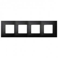 Рамка 4 поста Simon SIMON 27 PLAY, черный артик, 2700647-086