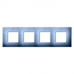 Рамка 4 поста Simon SIMON 27 PLAY, прозрачный, 2700647-108