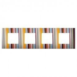 Рамка 4 поста Simon SIMON 27 PLAY, многоцветный, 2700647-801