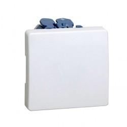 Выключатель 1-клавишный кнопочный Simon SIMON 27, скрытый монтаж, белый, 27659-65