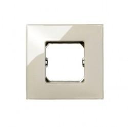 Рамка 1 пост Simon SIMON 27, дымчатое стекло, 27771-34