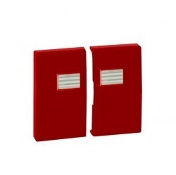 Клавиша двойная с линзами Simon SIMON 44 AQUA, красный, 4400026-037
