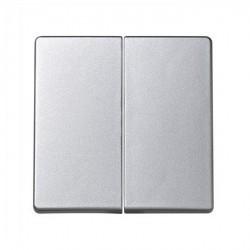 Клавиша двойная Simon SIMON 73 LOFT, алюминий, 73026-63