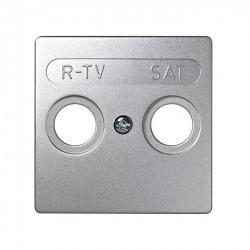 Накладка на розетку телевизионную Simon SIMON 73 LOFT, алюминий, 73097-63