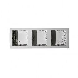 Рамка 3 поста Simon SIMON 73, горизонтальная, белый, 73630-60