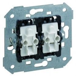 Механизм переключателя 2-клавишного Simon SIMON 75, с подсветкой, скрытый монтаж, 75394-39