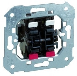 Механизм кнопочного выключателя 2-клавишного Simon SIMON 75, скрытый монтаж, 75396-39