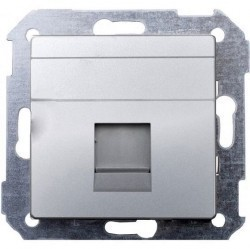 Накладка на розетку информационную Simon SIMON 82, алюминий, 82005-33