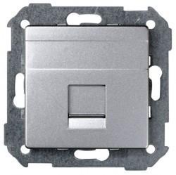 Накладка на розетку информационную Simon SIMON 82, алюминий, 82005-93