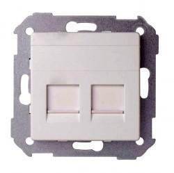 Накладка на розетку информационную Simon SIMON 82, алюминий, 82006-93
