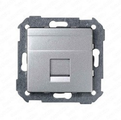 Накладка на розетку информационную Simon SIMON 82, алюминий, 82008-33