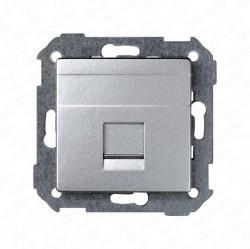 Накладка на розетку информационную Simon SIMON 82, алюминий, 82008-93