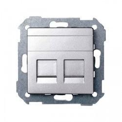 Накладка на розетку информационную Simon SIMON 82, алюминий, 82009-93