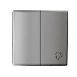 Клавиша двойная Simon SIMON 82, алюминий, 82027-33