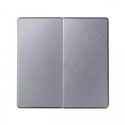 Клавиша двойная Simon SIMON 82, алюминий, 82029-93